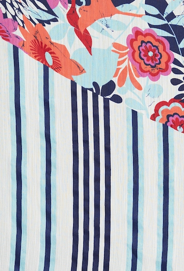 Accesorii Femei 14th Union Floral Stripe Split Scarf TEAL COMBO