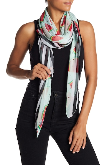 Accesorii Femei David Young Watermelon Stripe Wrap Scarf MULTI