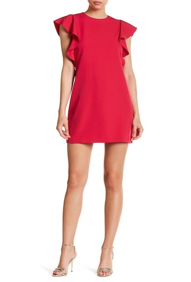 Imbracaminte Femei Laundry by Shelli Segal Flutter Sleeve Crepe Shift Dress PINK FIESTA