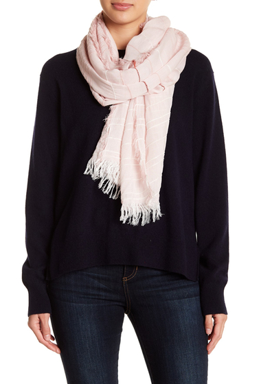 Accesorii Femei Melrose and Market Textural Stripe Scarf PINK COMBO
