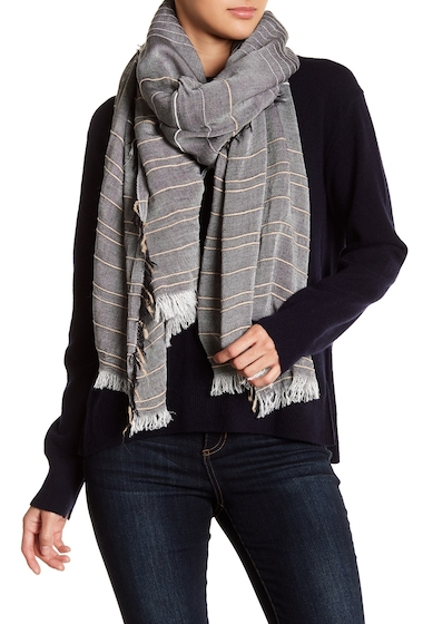 Accesorii Femei Melrose and Market Textural Stripe Scarf GREY COMBO