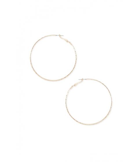 Bijuterii Femei Forever21 Etched Hoop Earrings GOLD