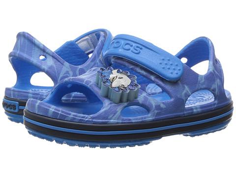 Incaltaminte Fete Crocs Crocband II LED Sandal (ToddlerLittle Kid) Cerulean BlueNavy