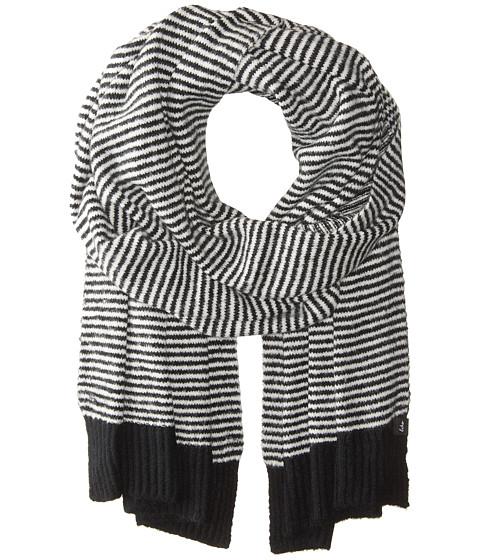 Accesorii Femei Echo Design Echo Soft Stretch Mini Stripe Muffler Black