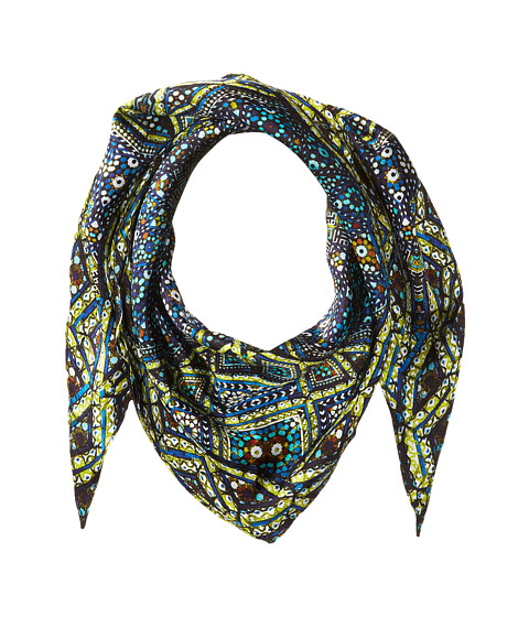 Accesorii Femei Echo Design Medallion Silk Diamond Shaped Scarf Maritime Navy