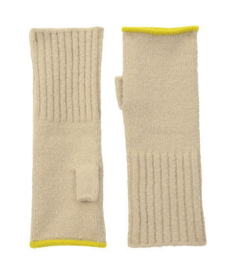 Accesorii Femei Echo Design Echo Soft Stretch Fingerless Gloves Oatmeal