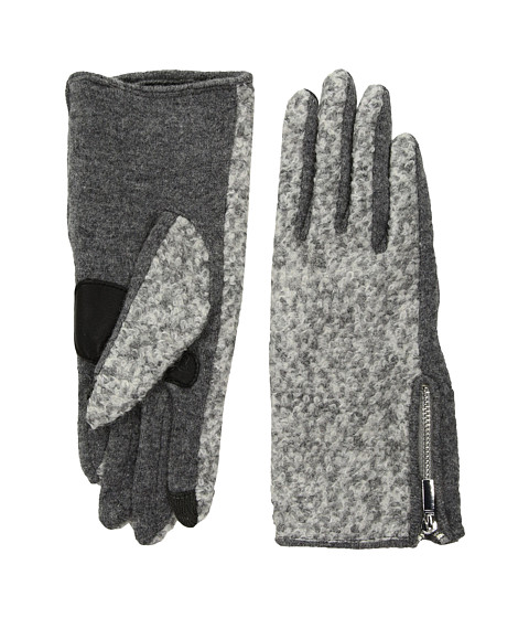 Accesorii Femei Echo Design Classic Boucle Gloves Heather Grey