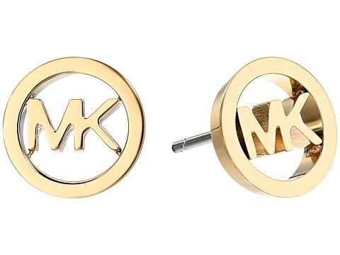 Bijuterii Femei Michael Kors Logo Tone Stud Earrings Gold