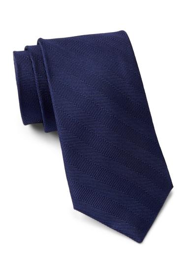 Accesorii Barbati Tommy Hilfiger Silk Herringbone Tie NAVY