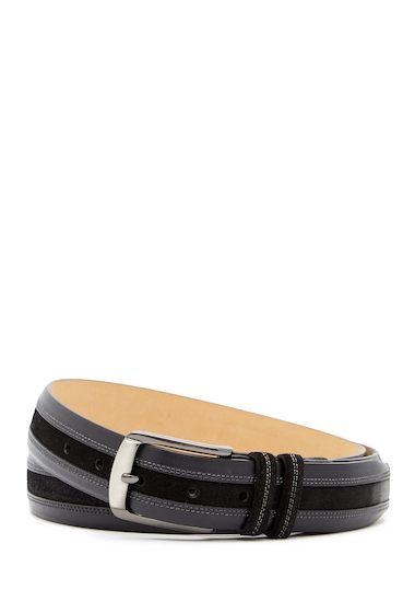 Accesorii Barbati Mezlan Calf LeatherSuede Belt GRAPHITE
