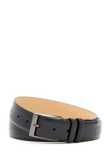 Accesorii Barbati Mezlan Brogued Leather Belt BLACK