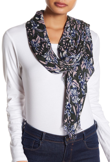 Accesorii Femei Melrose and Market Whimsical Floral Rectangular Scarf GREY COMBO