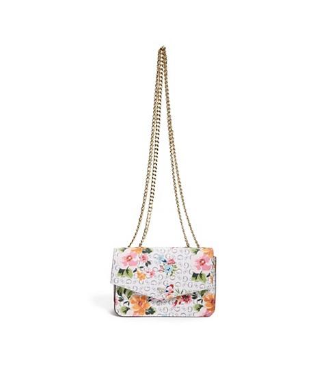 Accesorii Femei GUESS Floral Crossbody Wallet white multi
