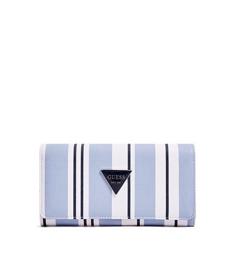 Accesorii Femei GUESS Abree Striped Flap Wallet blue multi