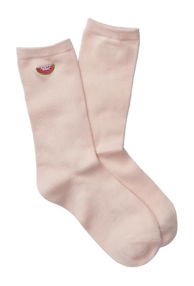 Accesorii Femei Free Press Yummy Embroidered Socks PINK WATERMELON