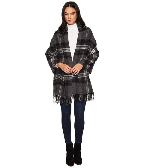 Accesorii Femei Polo Ralph Lauren Oversized Blanket Plaid Wrap Shawl Charcoal Plaid