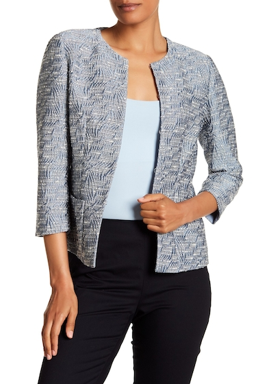 Imbracaminte Femei Lafayette 148 New York 34 Sleeve Woven Patterned Jacket PORTOFINO MULTI