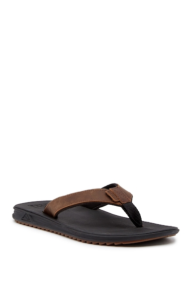 Incaltaminte Barbati Reef Slammed Rover Lux Leather Flip Flop BLACK