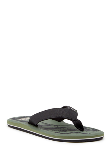 Incaltaminte Barbati Reef Machado Day Prints Flip Flop BLACK GREE