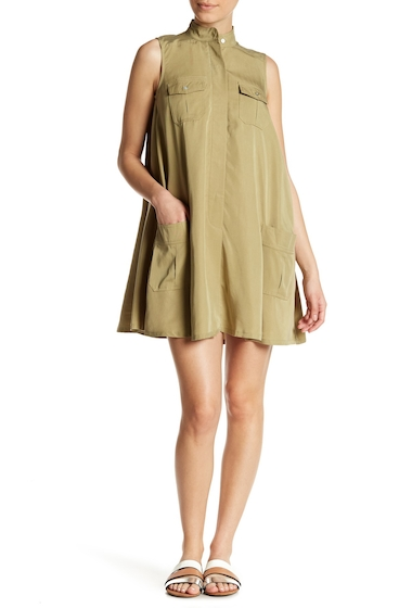 Imbracaminte Femei Sharagano Sleeveless Flared Pocket Dress Petite MISSIOLIVE