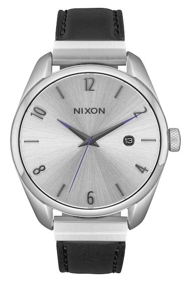 Ceasuri Femei Nixon Womens Bullet Leather Luxe Bracelet Watch 38mm SILVER BLACK