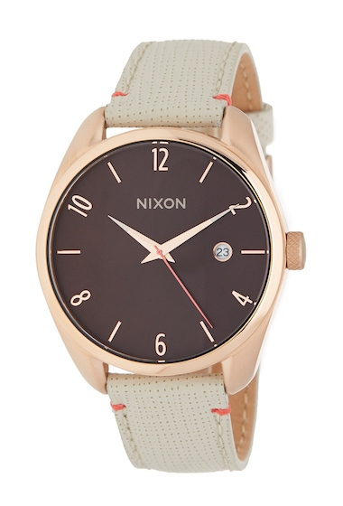 Ceasuri Femei Nixon Womens Bullet Leather Strap Watch 38mm ROSEGOLD BR