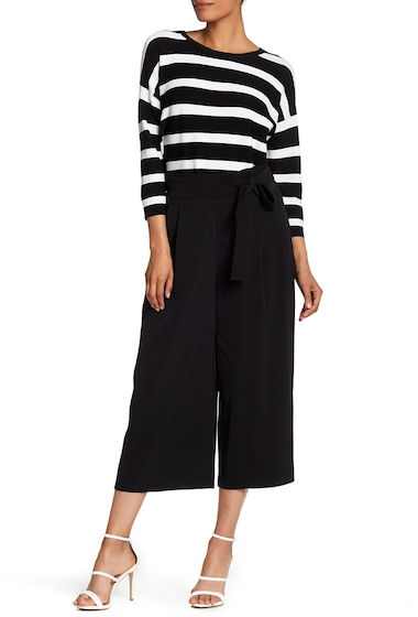 Imbracaminte Femei AK Anne Klein Cropped Belted Trousers BLACK