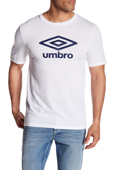 Imbracaminte Barbati Umbro Diamond Ultra Logo Tee WHITENAVY