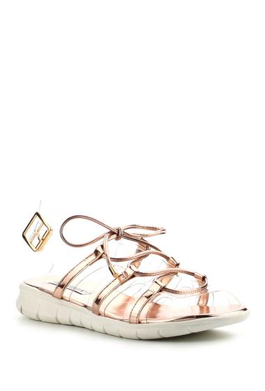 Incaltaminte Femei Cape Robbin Darcy Metallic Sandal ROSE GOLD