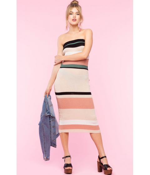Imbracaminte Femei CheapChic Jazmine Stripe Column Dress Brown Pattern