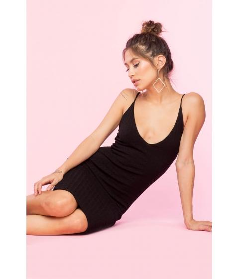 Imbracaminte Femei CheapChic V Neck Knit Bodycon Dress Black