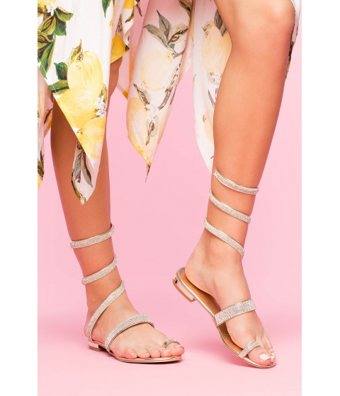 Incaltaminte Femei CheapChic Spiral Up Sandal Metallic Gold