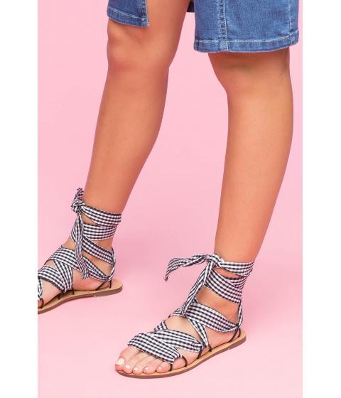 Incaltaminte Femei CheapChic Lace Me Up Sandal Black Pattern