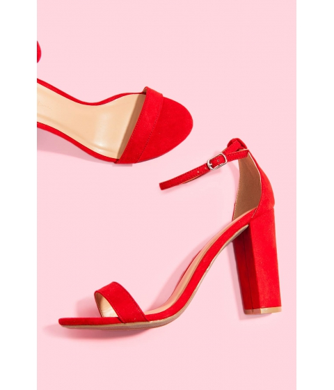 Incaltaminte Femei CheapChic Keep It Simple Ankle Strap Heel Red