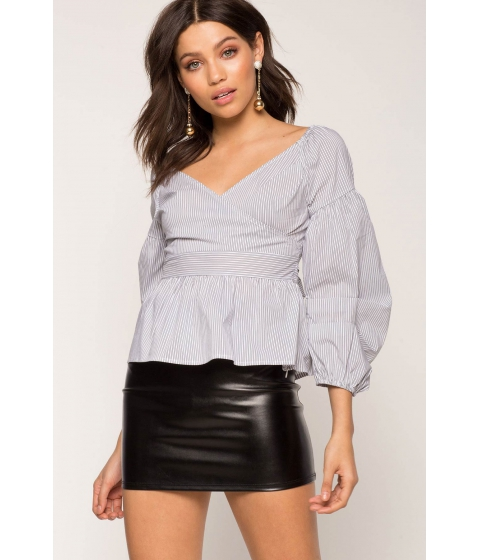Imbracaminte Femei CheapChic Stripe Poplin Blouse Black Pattern