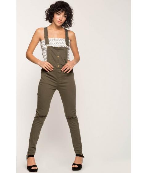 Imbracaminte Femei CheapChic Exposure Skinny Overalls Olive