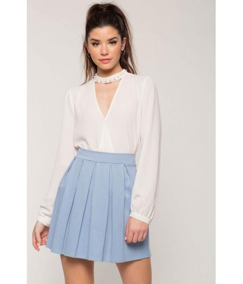 Imbracaminte Femei CheapChic Pleated Mini Flare Skirt Blue