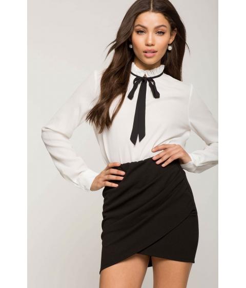 Imbracaminte Femei CheapChic Ruched Origami Mini Skirt Black