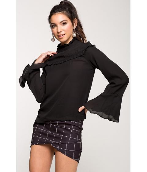 Imbracaminte Femei CheapChic Hailey Ruffle Blouse Black