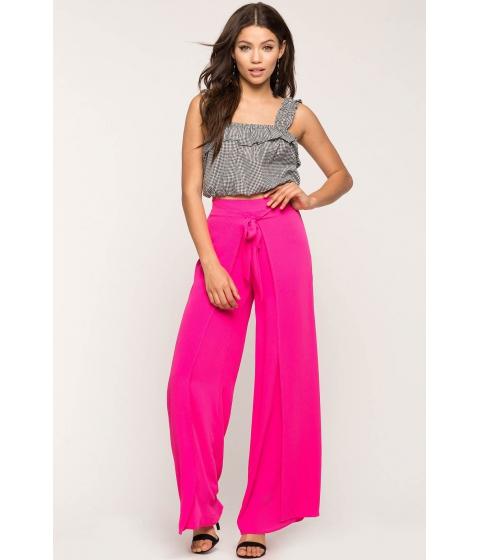Imbracaminte Femei CheapChic Tie Front Wrap Pants Fuchsia