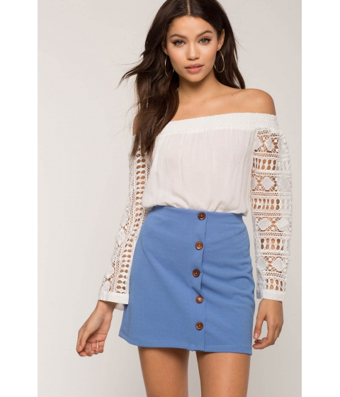 Imbracaminte Femei CheapChic Chambray Button Down Mini Skirt Blue