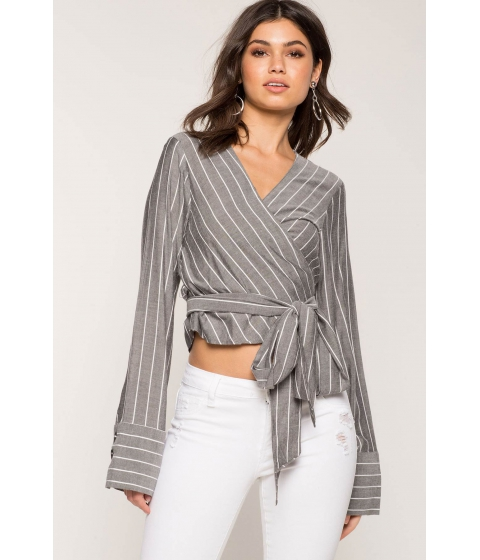 Imbracaminte Femei CheapChic Tie Waist Stripe Top Black Pattern