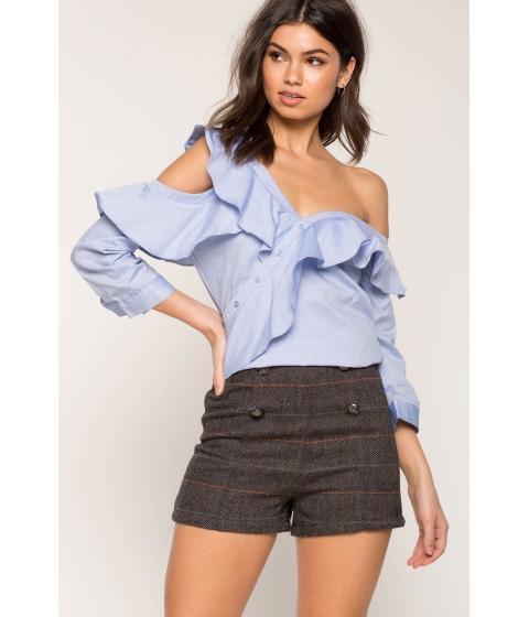 Imbracaminte Femei CheapChic One Shoulder Button Top Dusty Blue