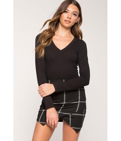 Imbracaminte Femei CheapChic Long Sleeve Basic V Neck Tee Black