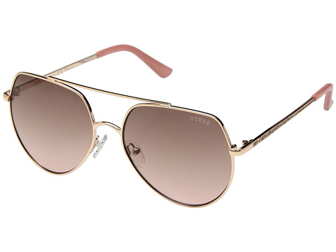 Ochelari Femei GUESS GF6057 Shiny Rose GoldBrown to Pink Gradient Lens