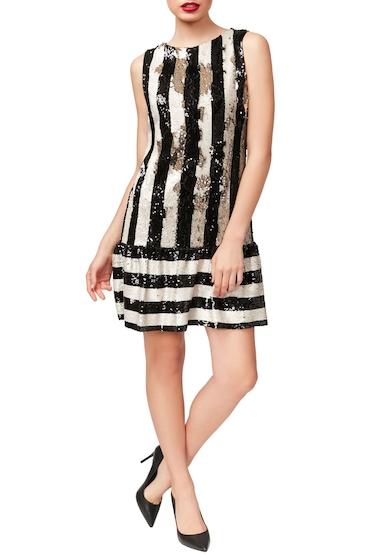 Imbracaminte Femei Betsey Johnson Sequins Flounce Dress BLKIVORY