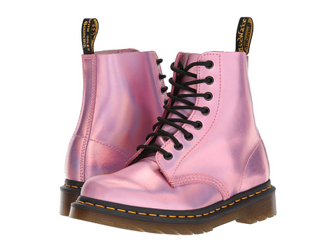 Incaltaminte Femei Dr Martens Pascal RS 8-Eye Boot Mallow Pink Reflective Metallic Leather
