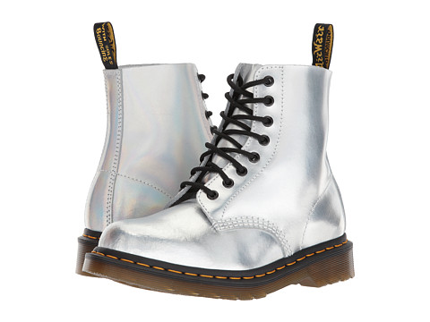 Incaltaminte Femei Dr Martens Pascal RS 8-Eye Boot Silver Lazer Reflective Metallic Leather