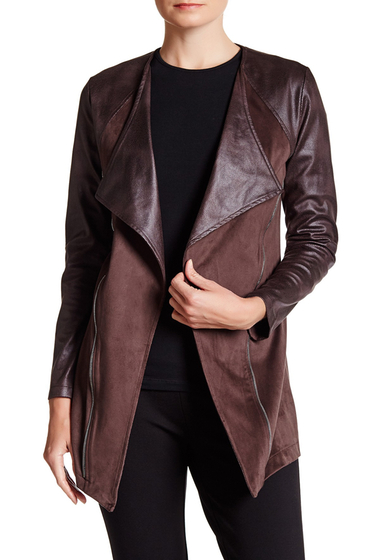 Imbracaminte Femei Insight Apparel Faux Leather Faux Suede Jacket EARTH