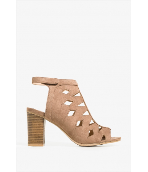Incaltaminte Femei CheapChic Lets Cut Out Of Here Heel TaupeKhaki